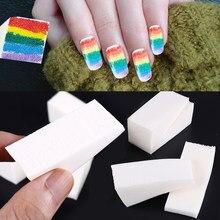 20 pçs escova de pontilhar esponja cabeça unhas pintura designers ferramentas arte do prego decoração design manicure gradiente esponja lixar bloco