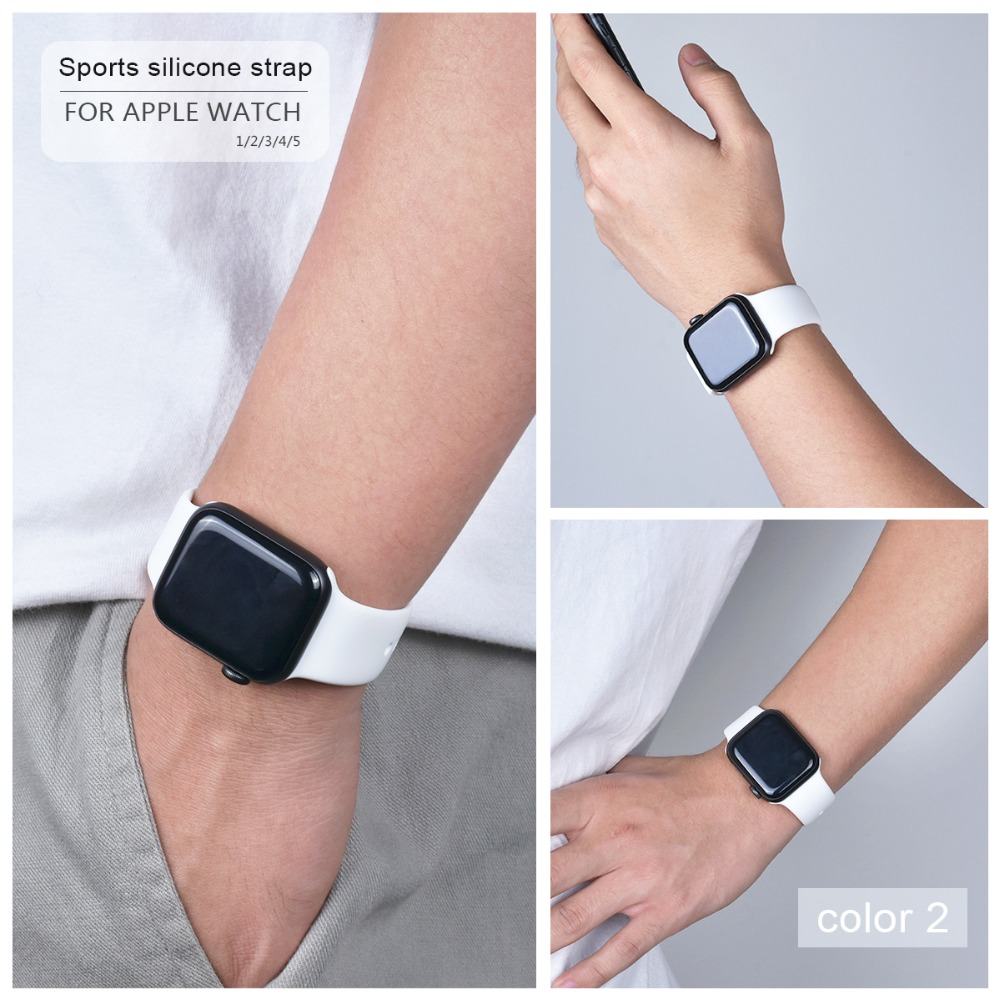 Soft Silicone Band for Apple Watch 84