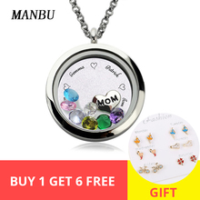 New Personalized Custom 925 sterling silver Pendant Necklace Circle Locket Engraved Name & birthstone necklace for Women jewelry chic engraved floral locket necklace