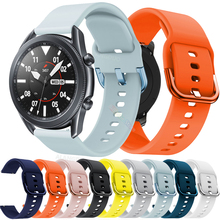 Sport Watch Band Strap For Samsung Galaxy Watch 3 41mm 45mm Smart watch Strap For galaxy watch 3 Silicone Strap Bracelet