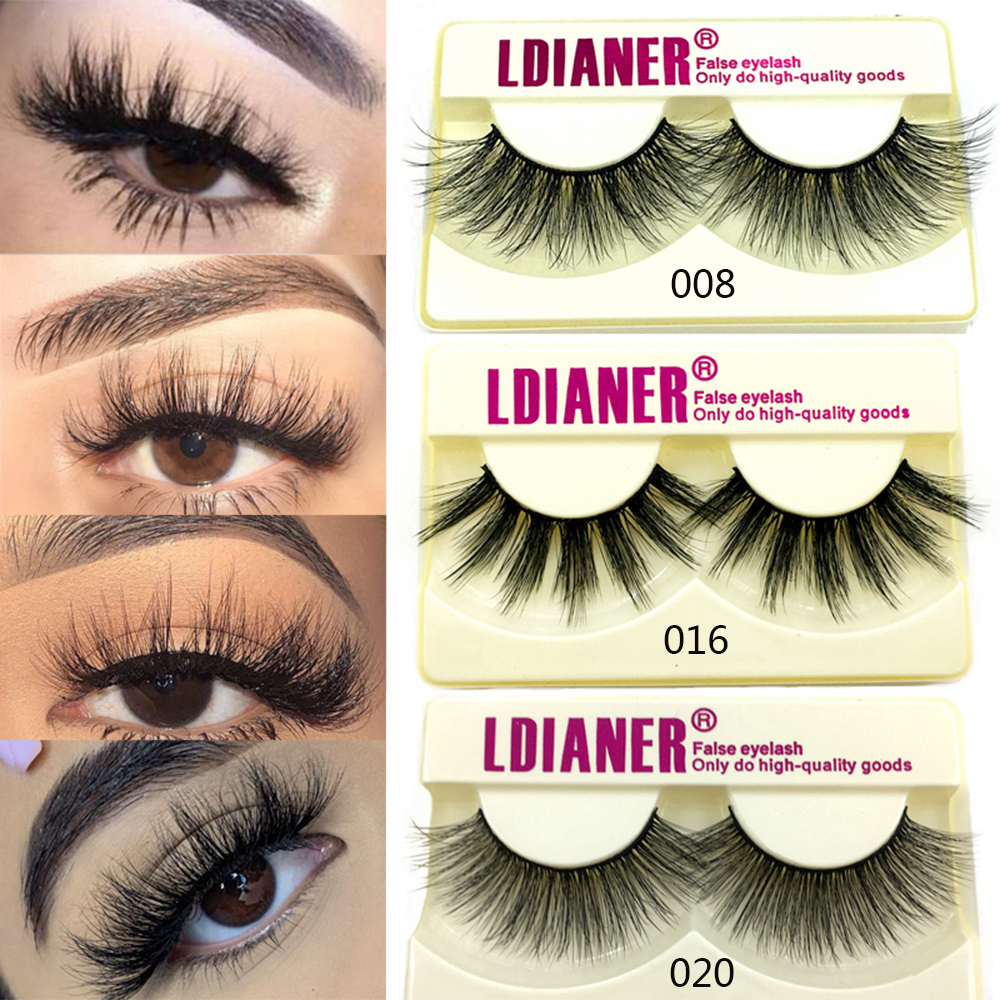 Handmade Eyelashes Thick Natural Long False Eyelashes 3D Faux Mink Hair Lashes High Volume Soft Dramatic Eye Lashes Makeup