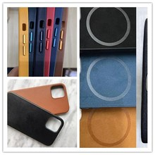 1Pcs/Original New Magnetic Real Leather Case Cover For iPhone 12 Pro Max 12Mini Full Soft Cover Magnet Leather Case Hull