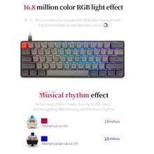 PBT Keycaps Mechanical-Keyboard Wired Gateron Gaming Backlit SK61 Switcs Mini Portable