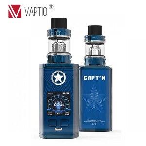 "Image 2 - Vaptio Captn 220w Vape Kit Anti leak Electronic Cigarette 1.3"" Screen Box Mod 2ML 4ML Atomizer 0.005s Fire Various Mode Flavor"