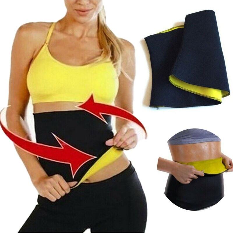 Women Waist Trimmer Sweat Belt Neoprene Exercise Wrap Slim Burn Fat Weight Loss Shaper S-XXXL