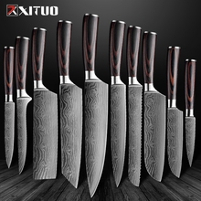 XITUO Kitchen Knives-Set Slicing-Knife Cleaver Stainless-Steel Sharp High-Carbon