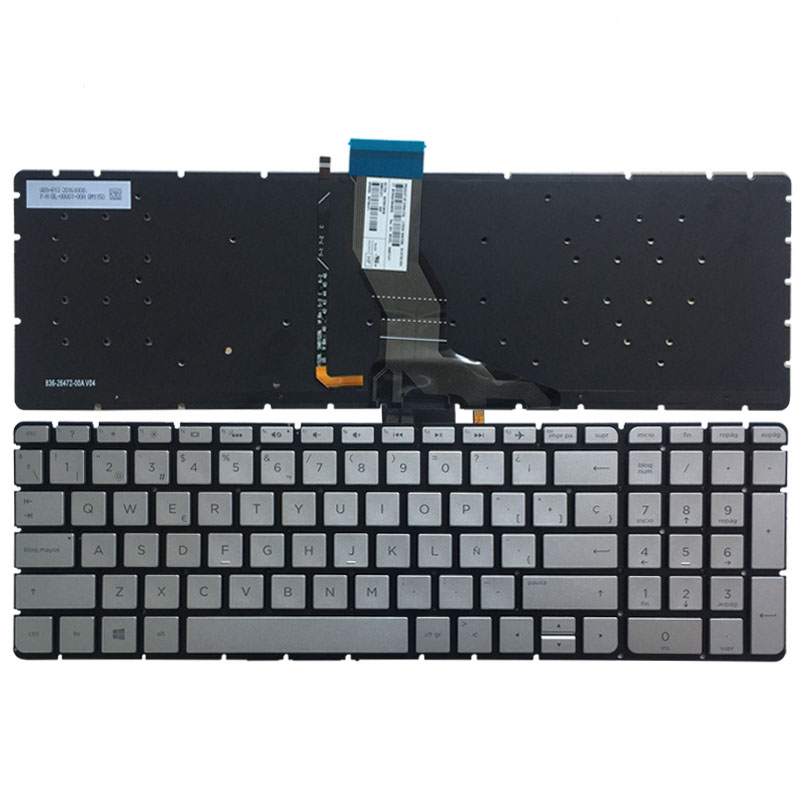 New For HP Compaq 15-h003ss 15-h019ns 15-h020ns Keyboard Spanish Teclado Frame