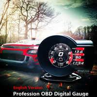 Beruf Magier OBD Head Up Display Auto Digital Boost Gauge Spannung Geschwindigkeit Meter ect. Wasser Temp Alarm Auto Diagnose Werkzeug