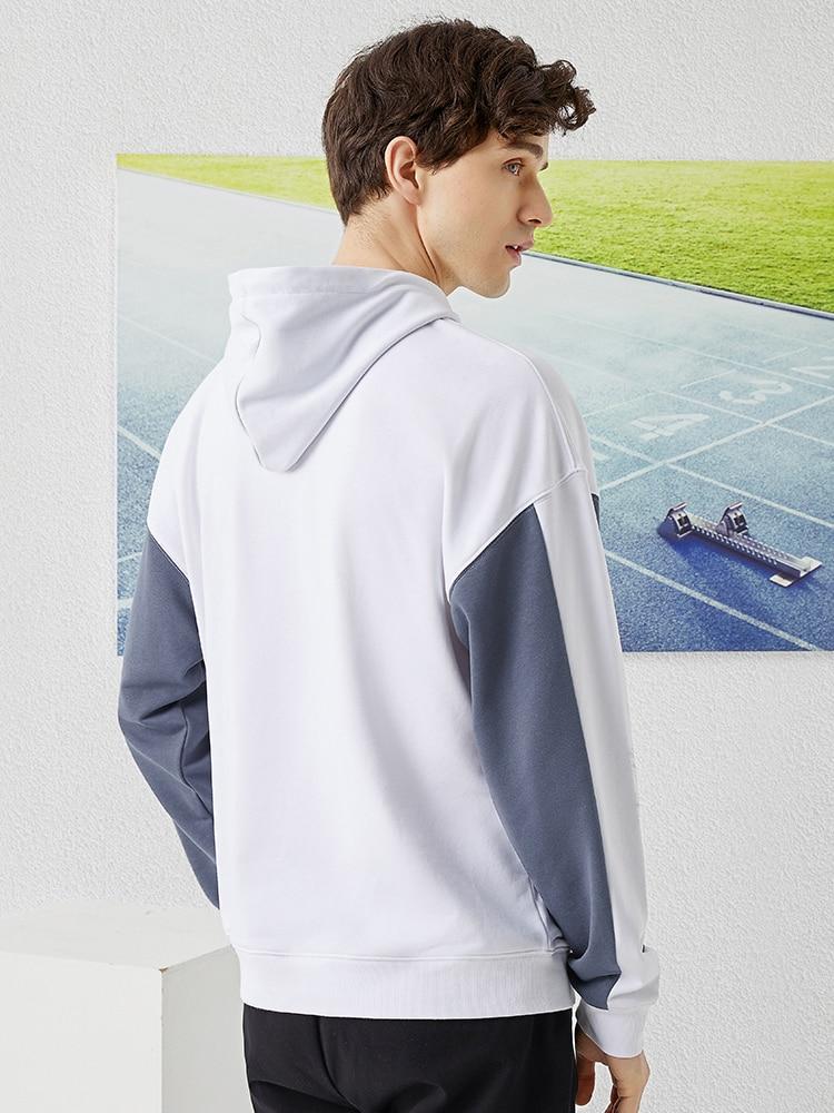Image 4 - Pioneer Camp 2020 Spring Hoodies Men Streetwear Gray White Hit Color Cotton Causal Hooded Sweatshirts Mens ALY0105076Hoodies & Sweatshirts   -