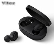 Drahtlose Kopfhörer A6S TWS Bluetooth Kopfhörer PK Redmi Airdots Sport Wasserdichte Mic Headsets Noise Cancelling Stereo Ohrhörer E6S