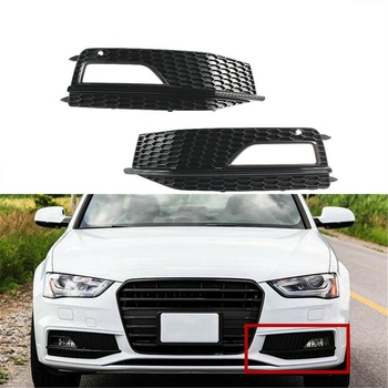 Front Bumper Lower Fog Lamp Light Grill Grille Grid for Audi S4 A4 SLine 2013-2015 8K0 807 681 L