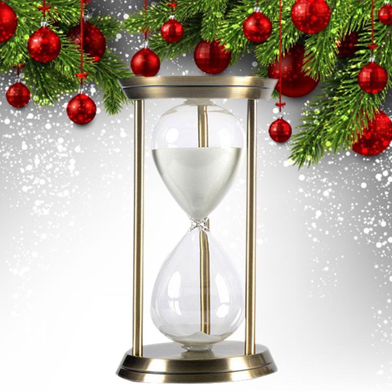 Металлические песочные часы 15 минут часы таймер с обратным отсчетом для кухни школьный час Рождественский подарок на день рождения украшен