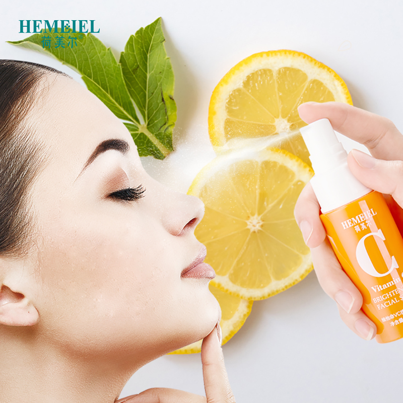 HEMEIEL Vitamin C Whitening Facial Spray Oil Control Hydrating Moisturizing VC Face Serum Anti Aging Anti Wrinkle Face Skin Care