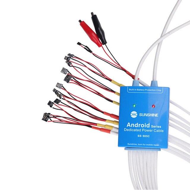 Cable de prueba Cerrent para teléfono Samsung, Huawei, Xiaomi, Oppo, Android, fuente de alimentación SS 905C