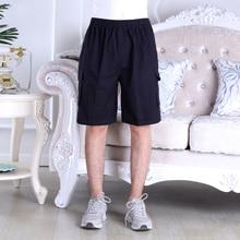 Summer Man Casual Cotton Short Black Gray High Elastic Waist Cargo Shorts Comfort Side Big Pockets Design Bottoms Homme 2020 New green side pockets camouflage drawstring waist active bottoms