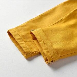Image 5 - Pomarańczowy biały Plaid chłopiec formalne ubrania dziecko suknia ślubna z długim rękawem dla dzieci kostium dla dzieci chłopcy jesień garnitur dla niemowląt Kid odzież zestaw