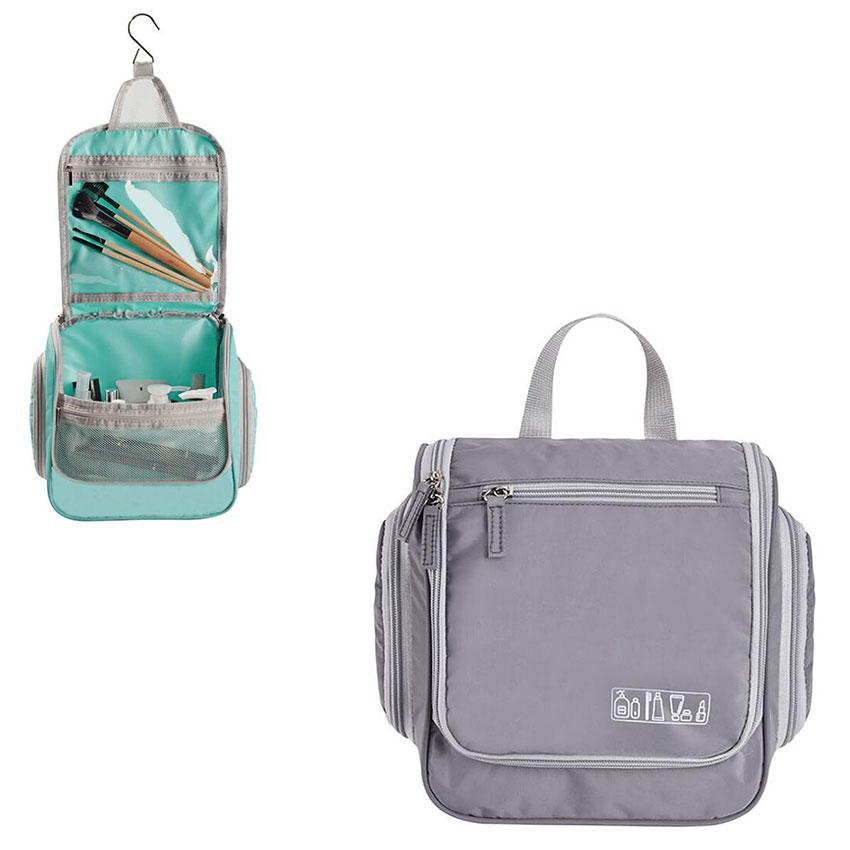 Organizer Cosmetic-Bag Toiletry Travel-Storage Multi-Function Portable Women Solid Candy-Hook