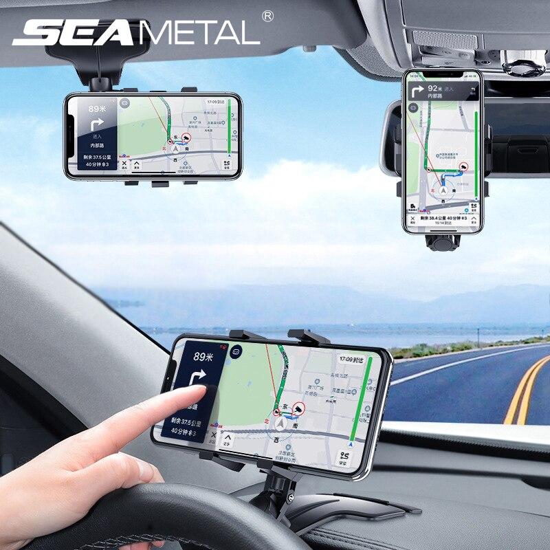 Soporte para móvil de coche 4-7 pulgadas, Universal, multiusos, para salpicadero/visera/espejo retrovisor, soporte de teléfono con número de estacionamiento