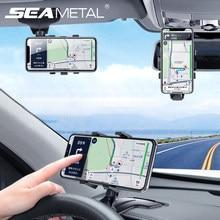 Soporte para móvil de coche Universal, tablero multiusos, visera solar, espejo retrovisor, soporte de teléfono con número de estacionamiento, 4-7 pulgadas