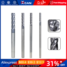 XCAN Carbide End Mill Cutter Bit 4/5/6/8mm End Milling Cutter CNC Engraving Tools 4 Flute Slot Cutter Router Bit
