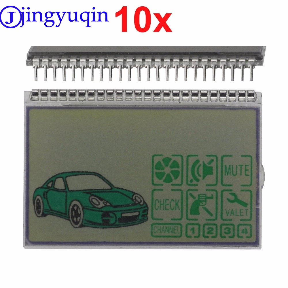 10pcs Keychain D3000 lcd display for Pandora DXL3000 Lcd Remote Controller Key Fob Chain Two way Car Alarm System DXL 3000