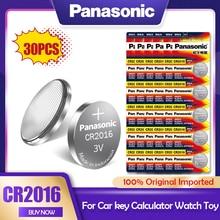 30ピース/ロットパナソニックCR2016 3vリチウム電池cr 2016 DL2016 LM2016 KCR2016 ECR2016 gpcr時計おもちゃの車のキーボタン電池コイン