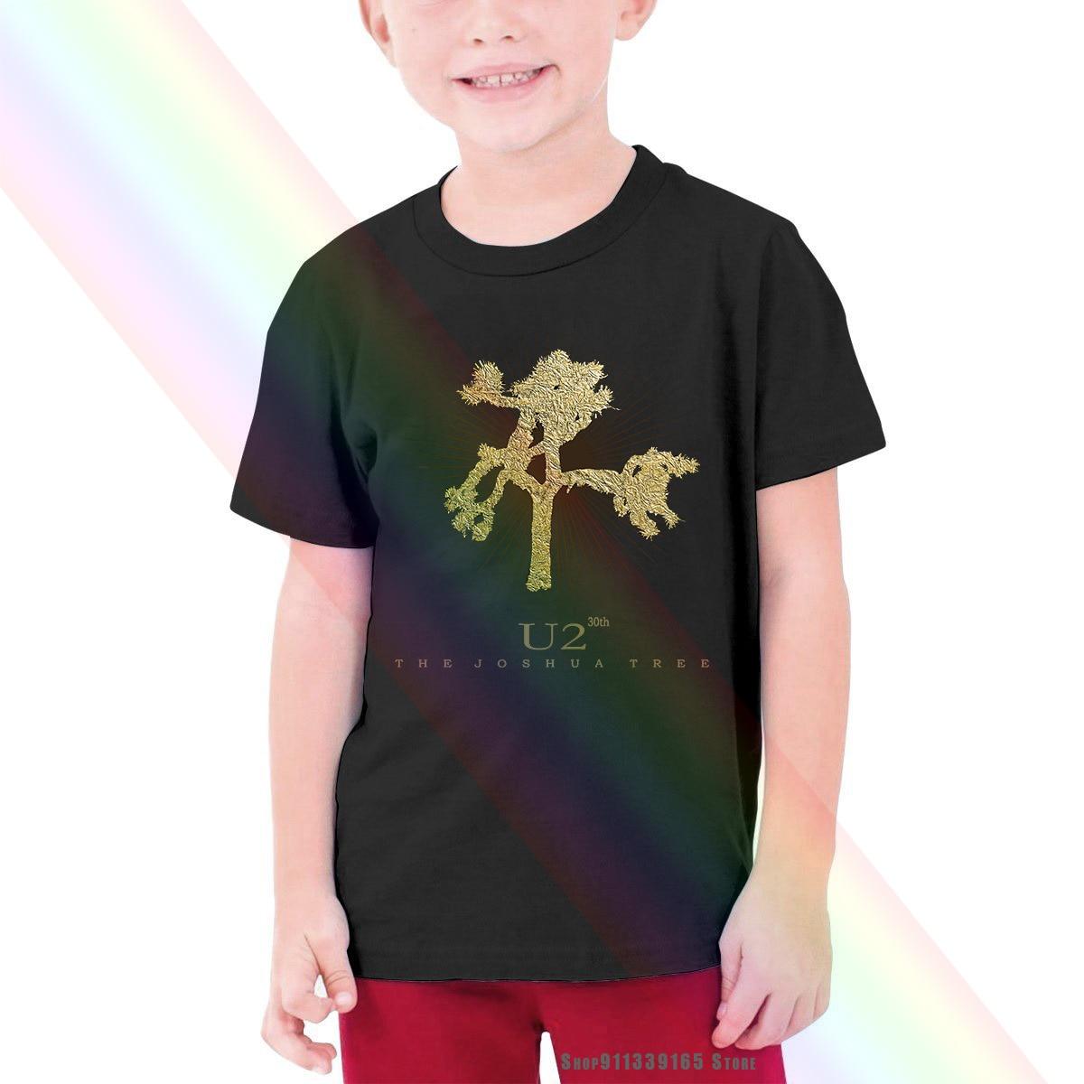U2 Детская футболка с изображением дерева шушушуа на 30-летие юбилея, Мужская детская футболка