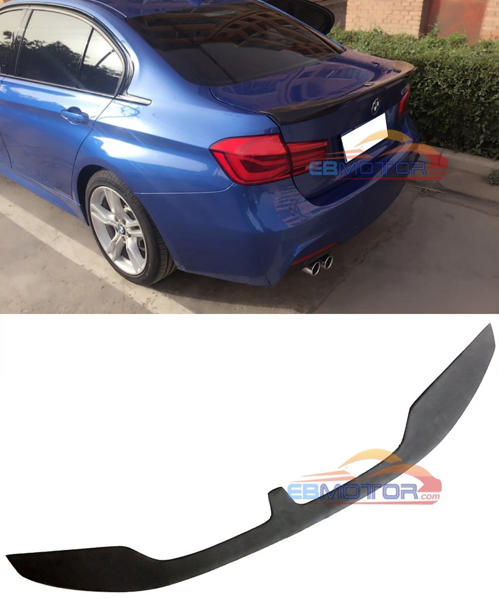 UNPAINTED  KT style rear trunk lip spoiler for BMW 3-series F30 Sedan 2012UP B386F