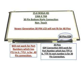 """Boehydis Nt156whm-n12 LAPTOP LCD Screen 15.6"""" WXGA HD LED DIODE (Substitute Only. Not a ) (30 PIN)"""