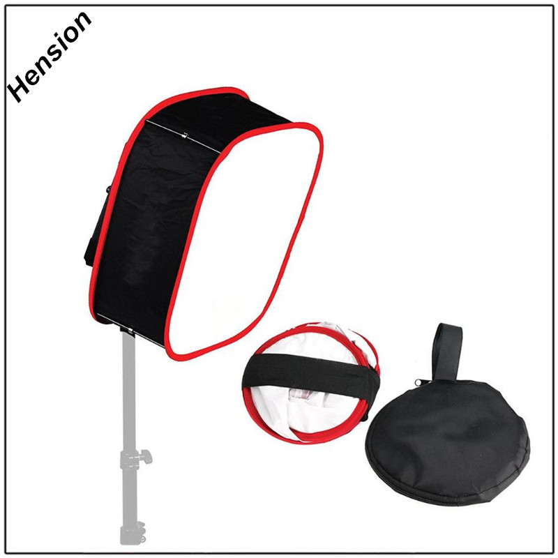 Universal 40cm Portabl Collapsible LED Video Light Softbox Diffuser for Yongnuo Godox Photographic Lighting YN600L YN900 YN300