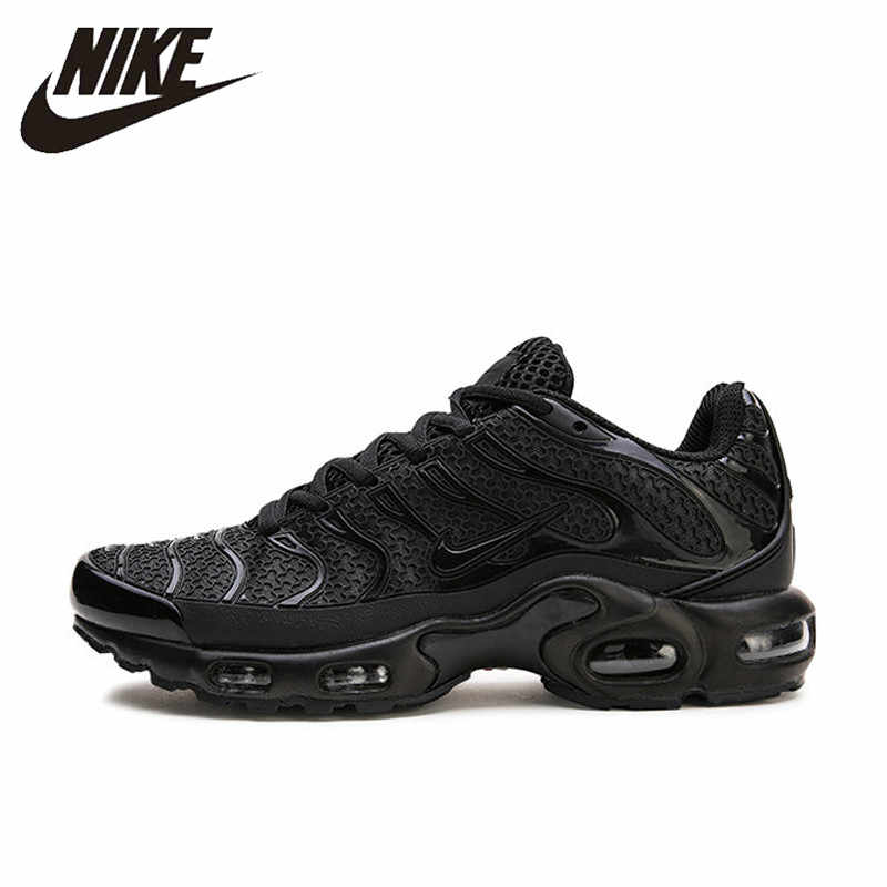 NIKE AIR MAX MAIS TN Running Shoes Respirável para Homens Sports Sneakers Lace-Up Plataforma Materiais kpu Tênis 40 -45