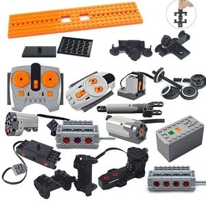 Technic parts Motor multi power functions 8293 8883 tool servo train motor PF model sets building blocks Compatible All Brands