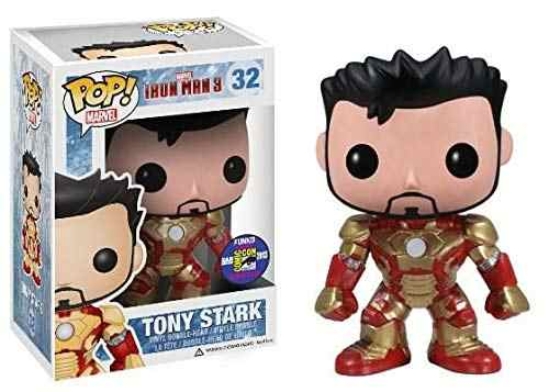 2013 SDCC Exclusive Official Funko pop Rare Marvel: Iron Man 3 - Tony Stark Vinyl Action Figure Collectible Model Toy In Box