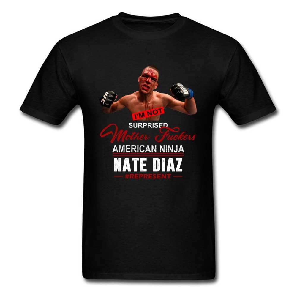 Lucha contra Nate Diaz T camisa luchador ganador hombres camiseta diseño fresco de algodón completo o-Cuello camisa Streetwear camisetas Culturismo