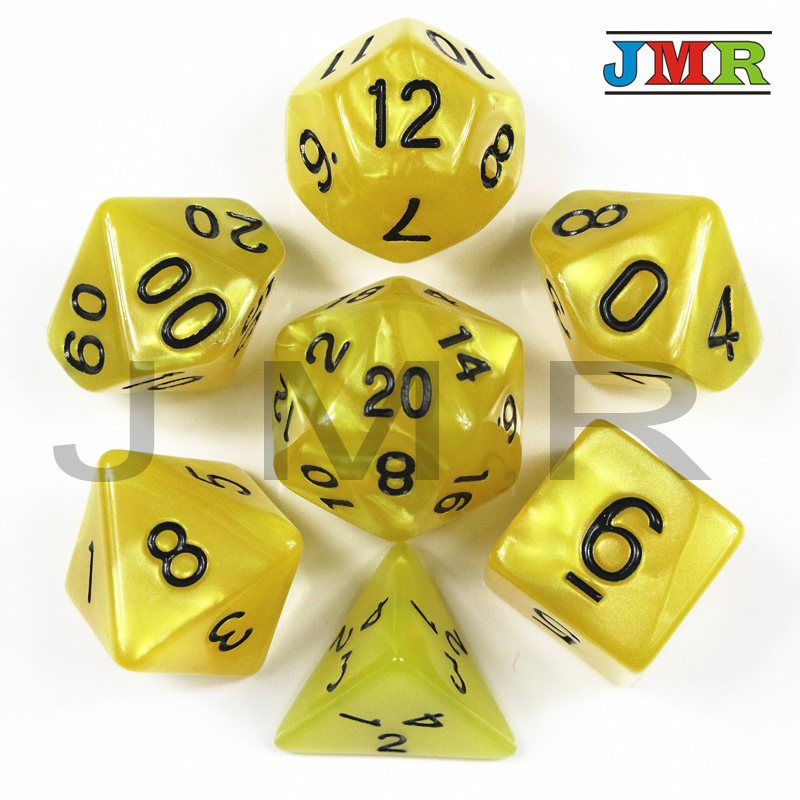 Brand New 7PCS-die Pearlized Dice Set Of D4,d6,d8,d10,d%,d12,d20 Gaming Dice,Polyhedral Decider Die RPG For Parties As Toys