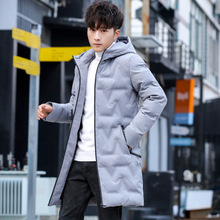Мужская одежда, Зимняя Новая Стильная хлопковая стеганая одежда, мужская Толстая Корейская стильная трендовая пуховая куртка, хлопковая стеганая одежда средней длины Ha