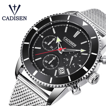 CADISEN Watch Men Top Brand Luxury Quartz Wrist Watches Stainless steel Date Simple Casual Mens Watches Waterproof Timer Clock classic dual movement design automatic quartz watches clock mens watches top brand luxury watch men skeleton wrist watch