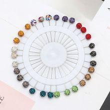 30 stks/set Moslim Hijab Sjaal Veiligheidsspelden Kristallen Ball Broches Rechte Hoofd Pins Voor Vrouwen