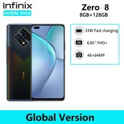 Новая глобальная версия Infinix ноль 8 8GB 128GB смартфон 64-мегапиксельная четырехъядерная камера 6,85 ''90 Гц Full Экран 33 Вт Зарядное устройство 4500 мА/ч,...