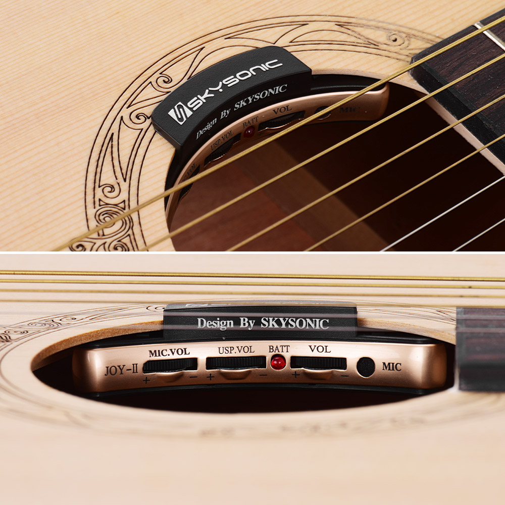 Yibuy 40 pièces sensible Piezo guitare Folk pick up avec 3/4 de longueur - 5