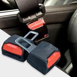 Image 3 - 1pc Creative Black Car Seat Belt Clip Extender ремень безопасности Safety Seatbelt Lock Buckle Plug Thick Insert Socket