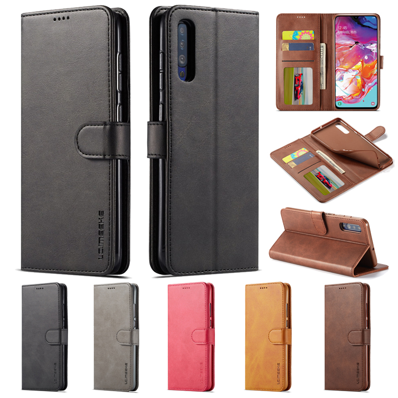 For <font><b>Samsung</b></font> Galaxy <font><b>A50</b></font> Case <font><b>Flip</b></font> Leather Case on sFor Coque <font><b>Samsung</b></font> A51 Case Galaxy A51 A 50 A50S Etui Retro Wallet Phone <font><b>Cover</b></font> image