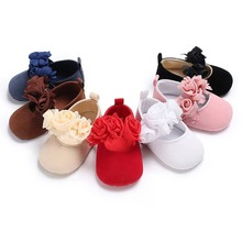 Sweet Floral Newborn Toddler Baby Girls Crib Shoes Pram Soft Sole Prewalker Cute Baby Shoes Fashion Infant First Walker 0-18M fashion baby shoes newborn girls boys warm rainbow snow boots toddler first walkers infant sweet soft sole prewalker crib shoes