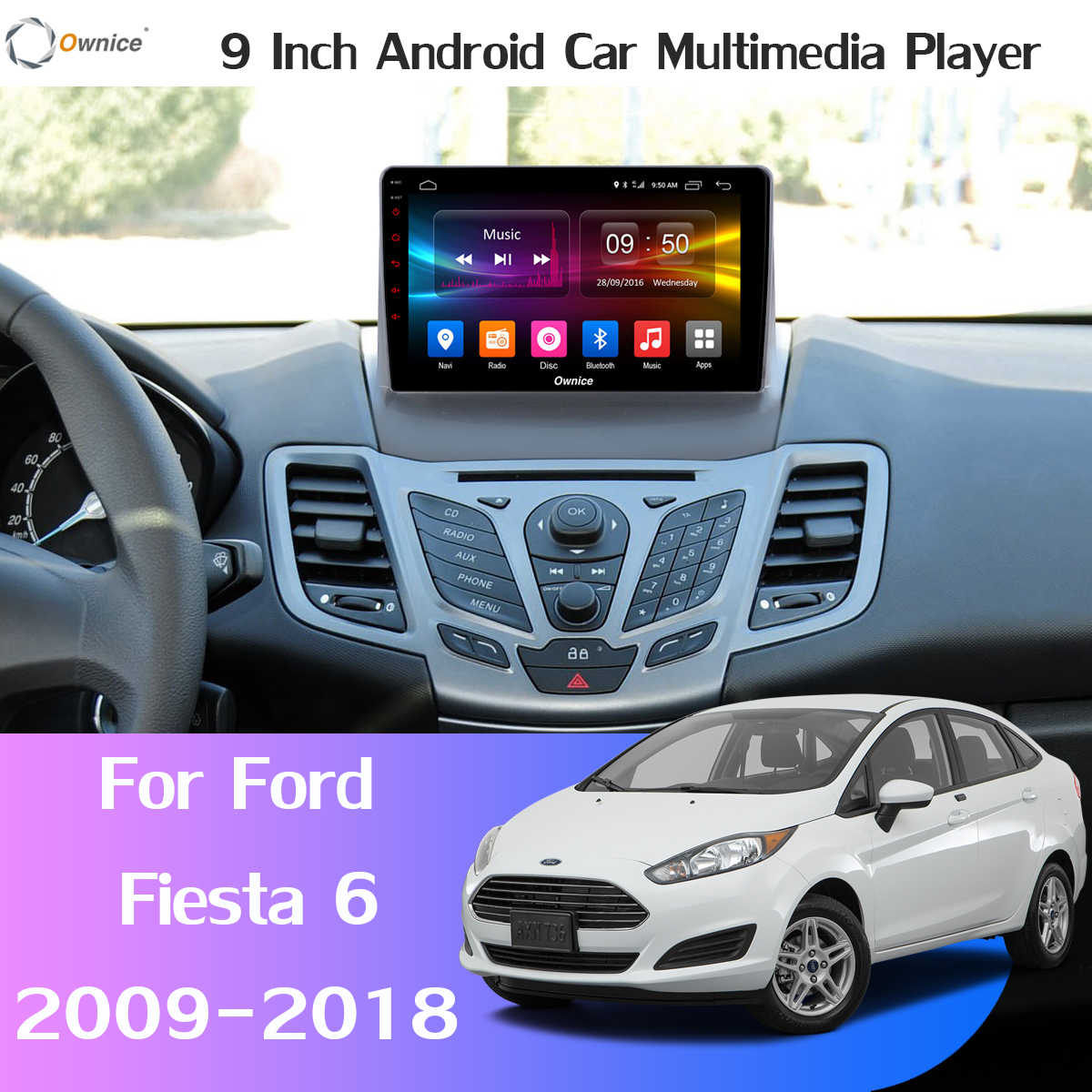 360°4×DVR камера 4G LTE WiFi 8 ядерный Android 9,0 4G + 64G SPDIF DSP CarPlay Автомобильный плеер для Ford Fiesta 2009-2018 gps радио