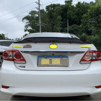 Use for Toyota corolla spoiler 2006 2013 year real glossy carbon fiber rear wing sport accessories body kit