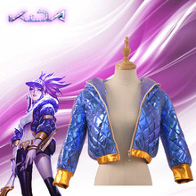 Coat Jacket Cosplay-Costumes Akali K/DA Anime Halloween Women Group for Carnival Lol-Cos