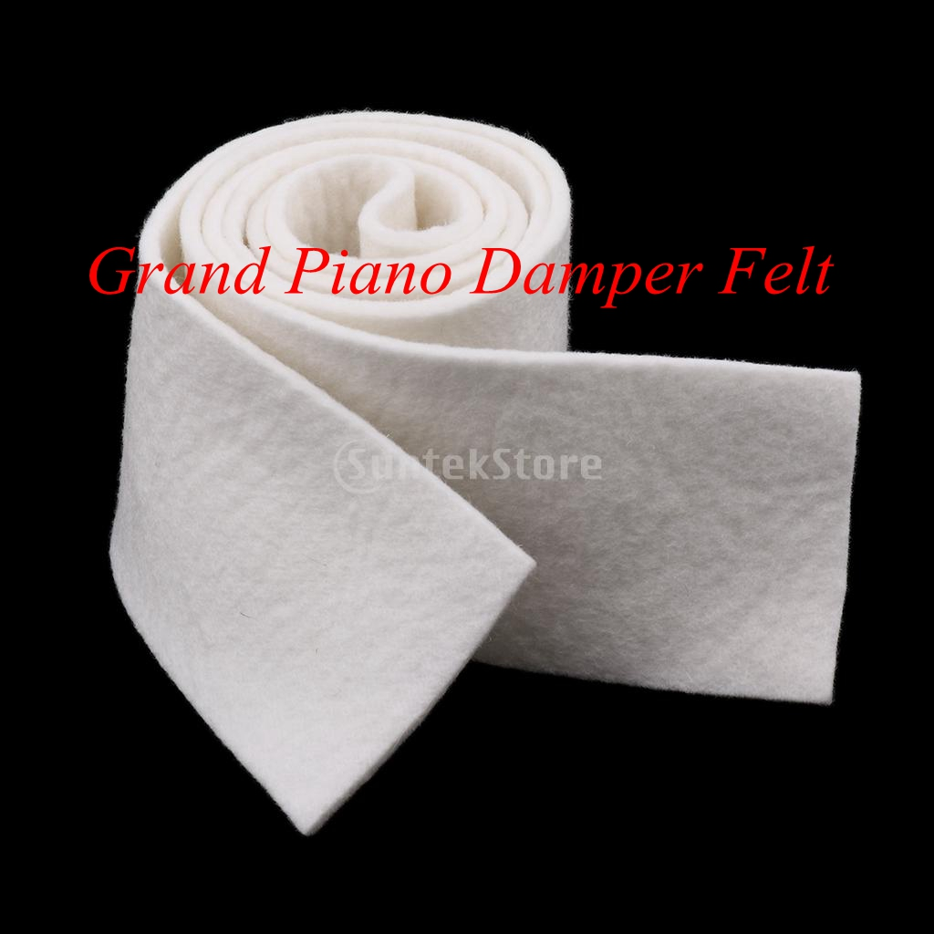 White 52inch Strip Grand Piano Lifter Felt Keyboard Instrument Replacement Parts For Piano Repair Replacement 1340x75x3mm