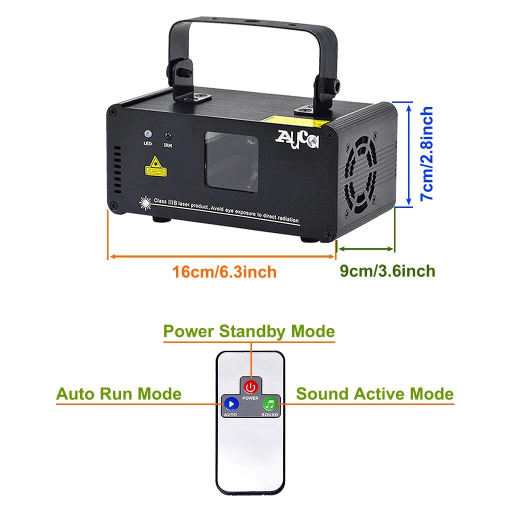AUCD Mini Remote 3D Effect 400mW RGB Full Color Laser Projector - Կոմերցիոն լուսավորություն - Լուսանկար 2