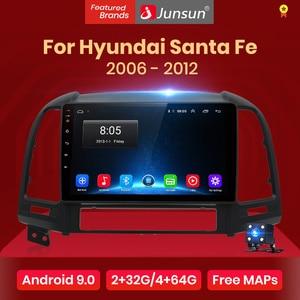 Junsun V1 Android 9.0 2G+32G DSP Car Radio Multimedia Video Player For Hyundai Santa Fe 2 2006-2012 Navigation GPS 2 din no dvd(China)