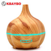 KBAYBO 400ml electric Air Humidifier Oil Diffuser Wood Grain Ultrasonic Humidifier for Office Home Bedroom Living Room